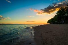 Panglao - solnedgång Arkivbilder