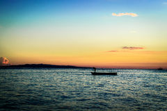 Panglao - solnedgång Arkivfoto