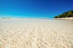 Panglao White Beach. Sandbar beach of panglao island in bohol philippines Stock Photos