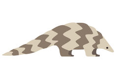 Pangolin walking and searching, side view vector. Pangolin walking and searching, side view, vector illustration Royalty Free Stock Image