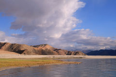 Pangong湖在Ladakh 库存图片