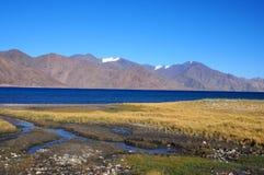 pangong湖蓝天 库存图片