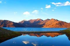 Pangong湖,印度 库存图片