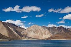 Pangong湖,拉达克,印度 库存图片