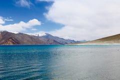 Pangong湖, Leh,印度 库存图片