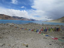 Pangong湖给催眠的看法  图库摄影