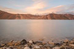 Pangong湖 免版税库存照片