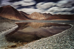 Pangong lake Royaltyfri Fotografi