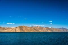 Pangong lake beautiful Mountain, Leh Ladakh, India. A beautiful mountain range near pangong lake and a clearly sky stock image