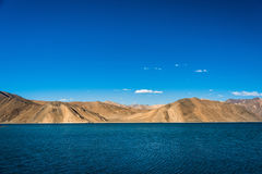 Pangong lake beautiful Mountain, Leh Ladakh, India. A beautiful mountain range near pangong lake and a clearly sky Royalty Free Stock Images