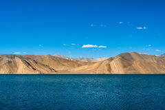 Pangong lake beautiful Mountain, Leh Ladakh, India. A beautiful mountain range near pangong lake and a clearly sky Stock Images