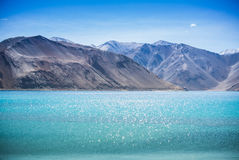 Pangong Lake, is an endorheic lake Royalty Free Stock Photography
