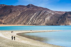 Pangong Lake, is an endorheic lake Stock Photography