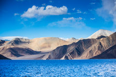 Pangong Lake, is an endorheic lake Royalty Free Stock Image