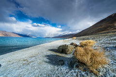 Pangong Lake, is an endorheic lake Royalty Free Stock Images