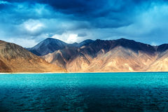 Pangong Lake, is an endorheic lake Royalty Free Stock Photo