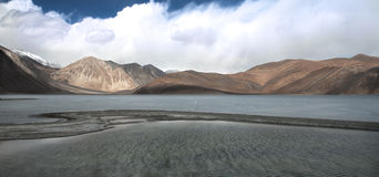 Pangong Lake in the Himalayas Royalty Free Stock Images