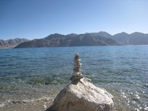 Pangong lake Royalty Free Stock Photos