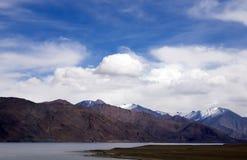 Pangong Lake in the Himalayas Royalty Free Stock Photos