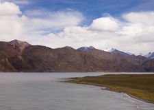 Pangong Lake in the Himalayas Stock Photography