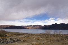 Pangong Lake in the Himalayas Stock Photos