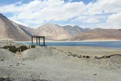 Pangong Lake i Ladakh. Arkivbilder