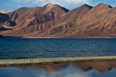 Pangong Lake in the Indian Himalaya Royalty Free Stock Image