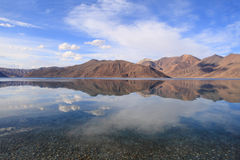 Pangong lake in Ladakh Royalty Free Stock Image