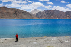 Pangong lake at Ladakh, India Stock Photo