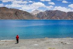 Pangong lake at Ladakh, India Stock Photo