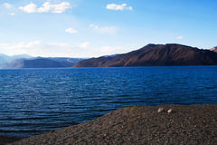 Pangong Lake in Ladakh, Jammu and Kashmir, India Royalty Free Stock Photography