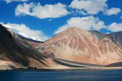 Pangong Lake in Ladakh, Jammu and Kashmir State, India Stock Photography