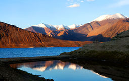 Pangong lake, Ladakh Royalty Free Stock Photo