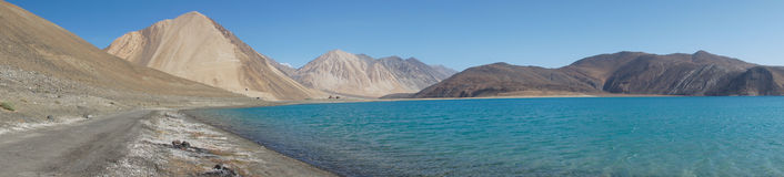 Pangong Lake in Ladakh, Jammu and Kashmir State, India. Stock Photography