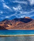 Pangong Lake in Ladakh, Jammu and Kashmir State, India Royalty Free Stock Images