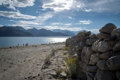 Pangong Lake, Ladakh Stock Photos