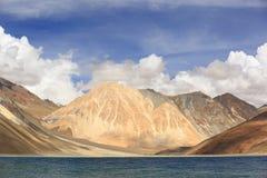 Pangong lake in Leh, Ladakh, India. Beautiful scenic view of Pangogn lake in Leh, Ladakh, India Stock Photo