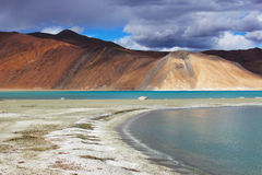 Pangong Lake. In Leh, one of the highes lakes in the world Stock Photos