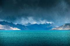 Pangong Lake LehLadakh Royalty Free Stock Photo