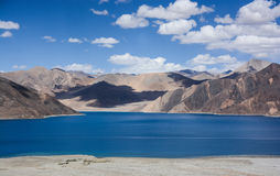 Pangong Lake. Pangong Tso - The highest salt water lake in the world stock image