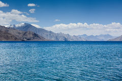 Pangong Lake. Pangong Tso - The highest salt water lake in the world royalty free stock photos