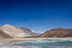 Pangong See in Kaschmir Stockbild