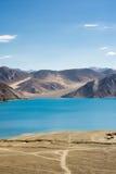 Pangong See in Ladakh, Indien Stockbild