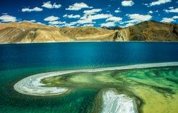 Pangong sjö, Ladakh, Indien Arkivbild