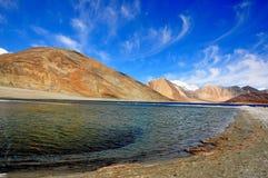 Pangong sjö Ladakh Indien Fotografering för Bildbyråer