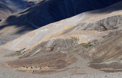 Pangong Tso山景 免版税图库摄影