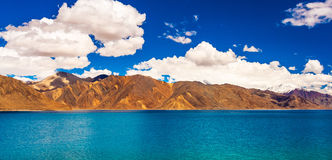 Pangong Tso, beautiful Himalayan lake, Ladakh, Northern India Royalty Free Stock Photo
