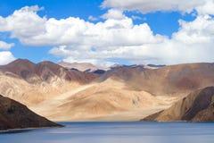 Pangong Tso Highland Lake in the Himalayas with the fantastic pl Royalty Free Stock Photos