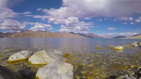 Pangong Tso Lake stock video footage