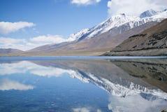 Pangong Tso Lake in Himalayas stock photo